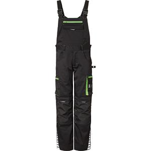 Latzhose schwarz/grün