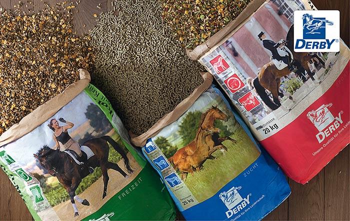 Pferdefutter und Pferdepflege von DERBY