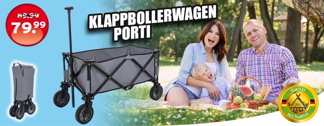 Klappbollerwagen Porti