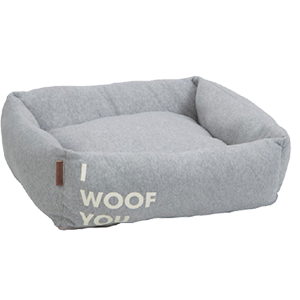 "Hundebett ""I woof you"""