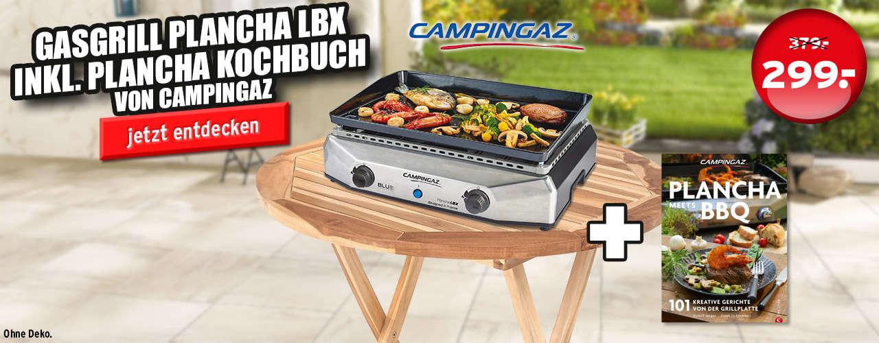 Campingaz Plancha Blue Flame LBX Gasgrill inkl. Grillbuch