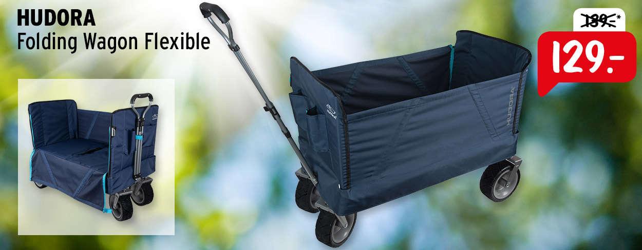 HUDORA Folding Wagon Flexible