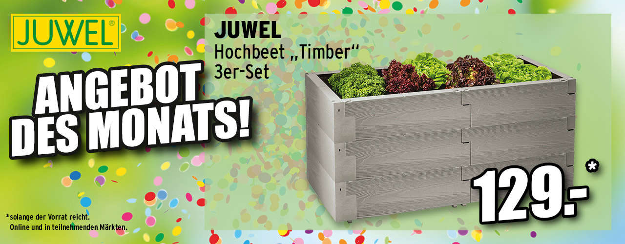 """Zum JUWEL Hochbeet """"Timber"""" 3er-Set"""