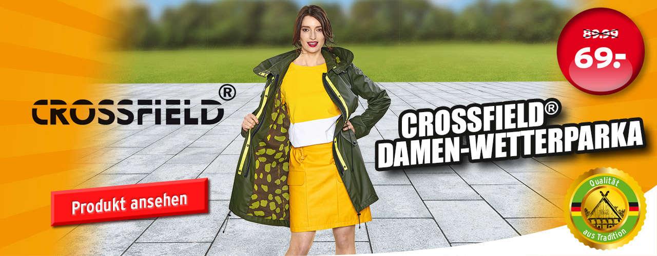 Crossfield Damen-Wetterschutzparka