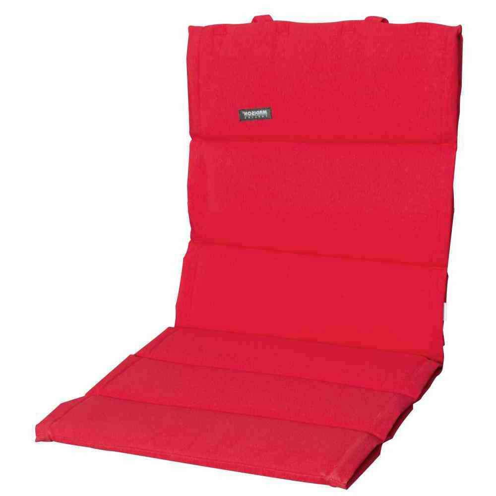 MADISON Auflage für Sessel niedrig, Panama rot, dünne Ausführung