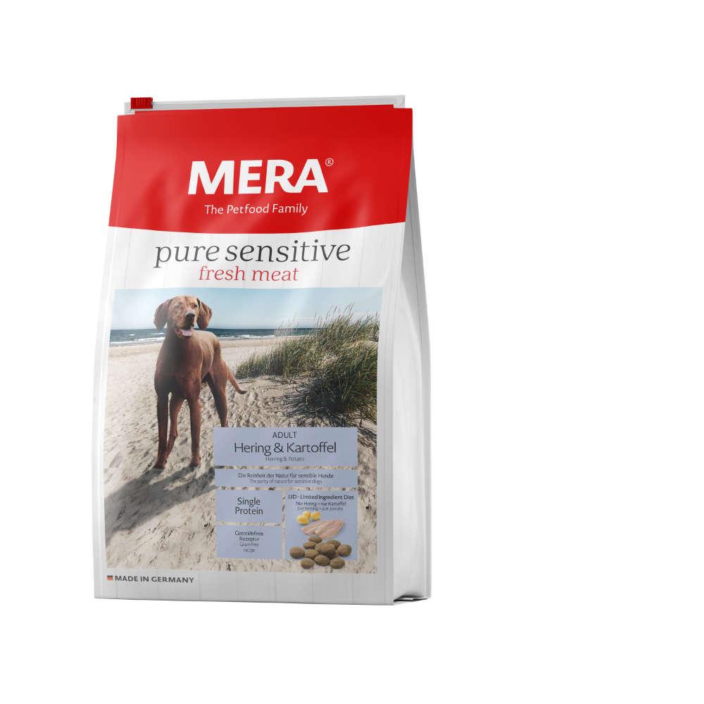 MERA Hunde Trockenfutter Pure Sensitive fresh meat Hering+Kartoffel
