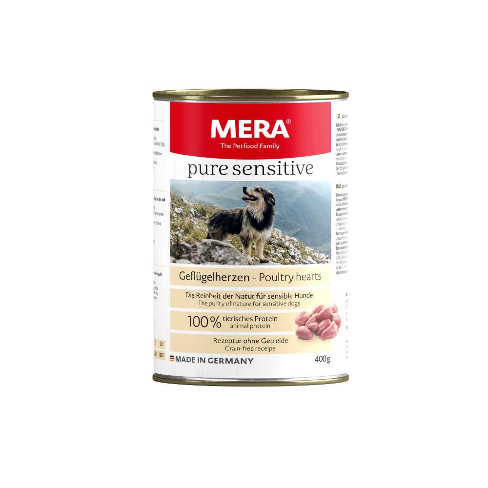 MERA Hunde-Nassfutter Pure Sensitive Meat Geflügelherzen 400 g