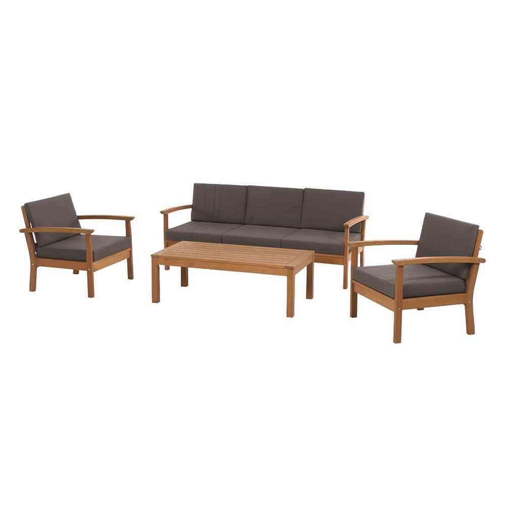 SIENAGARDEN Tavira Lounge 4tlg. teakl