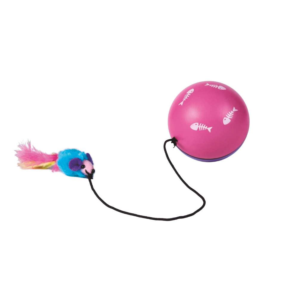 TRIXIE Turbinio Ball m. Motor und Maus - Katzenspielzeug
