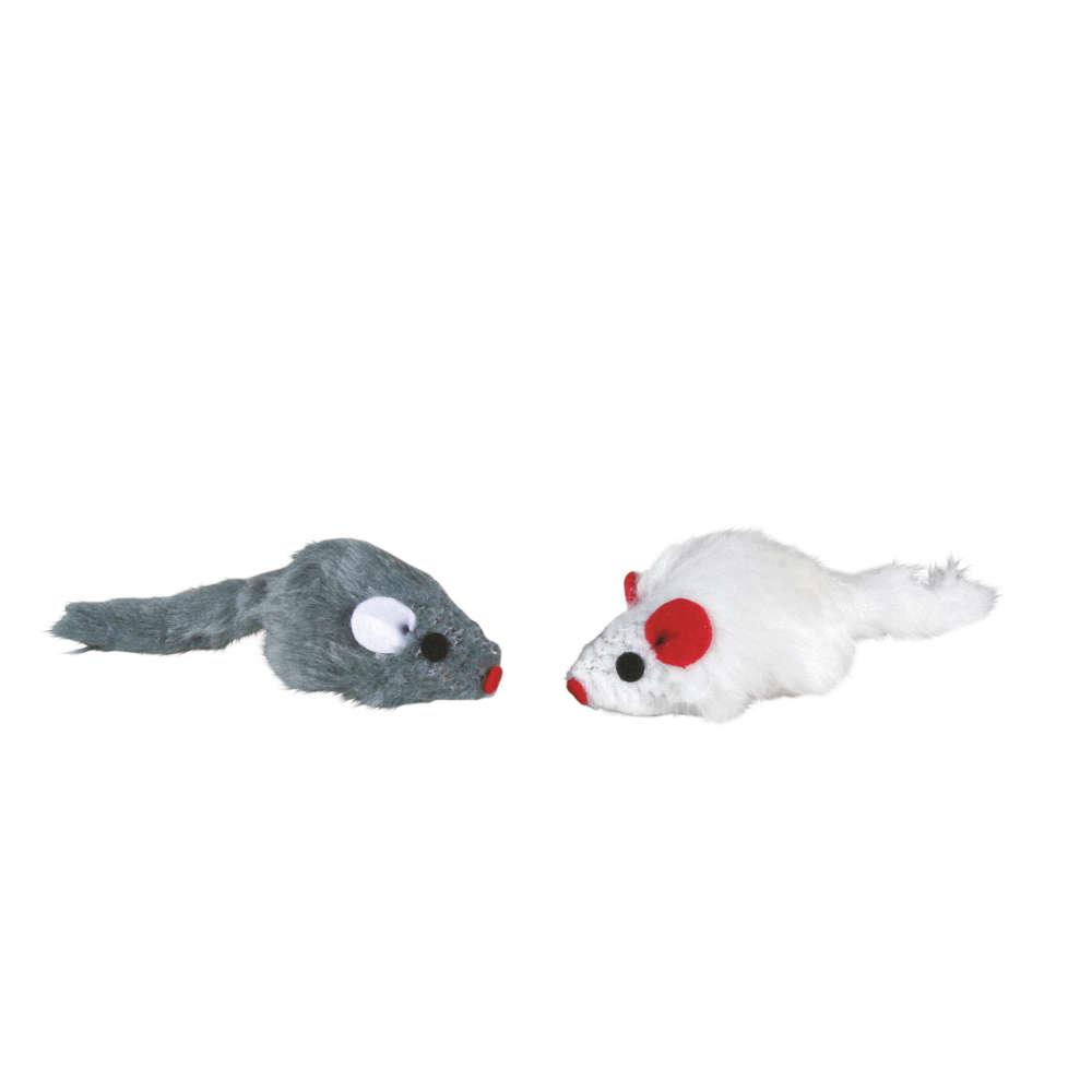 TRIXIE Plueschmaeuse mit Catnip-Kern - Katzenspielzeug