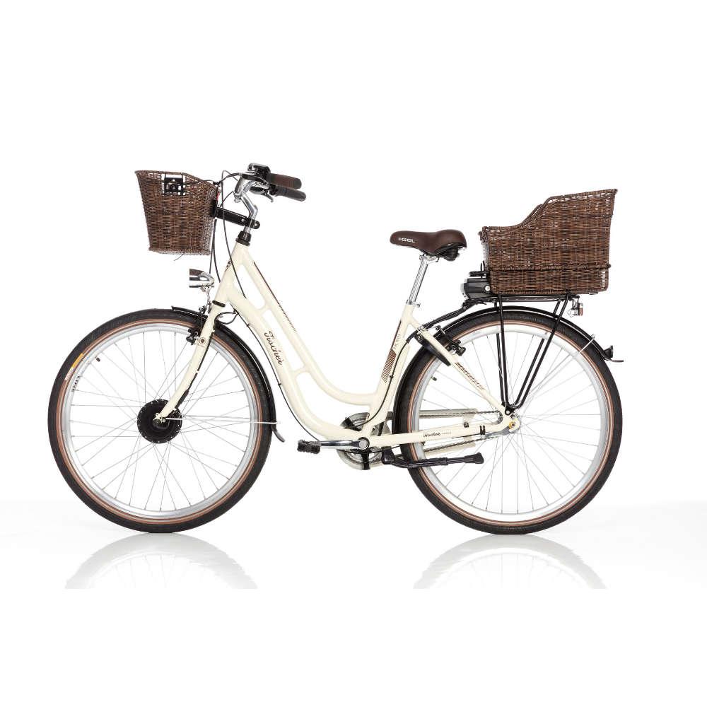 E-Bike Retro Damen Rad 28