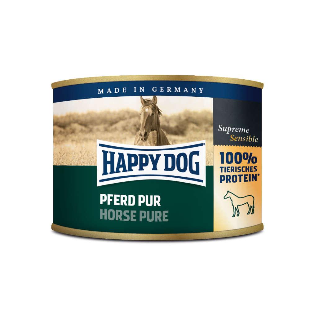 HappyDog Hunde-Nassfutter Pferd Pur