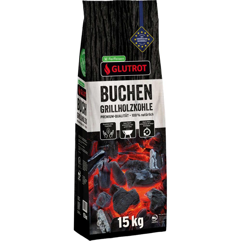 Raiffeisen Glutrot Buchen-Grillholzkohle
