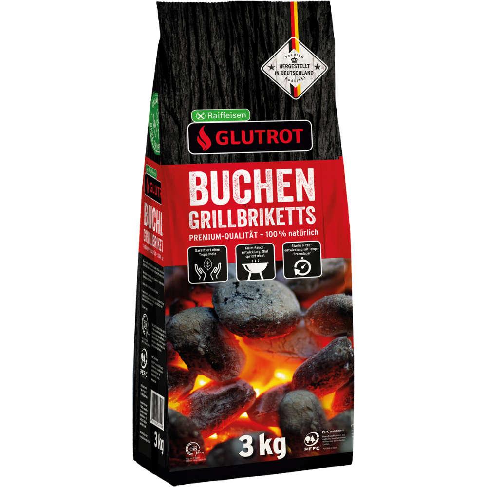 GLUTROT Buchen-Grillbriketts