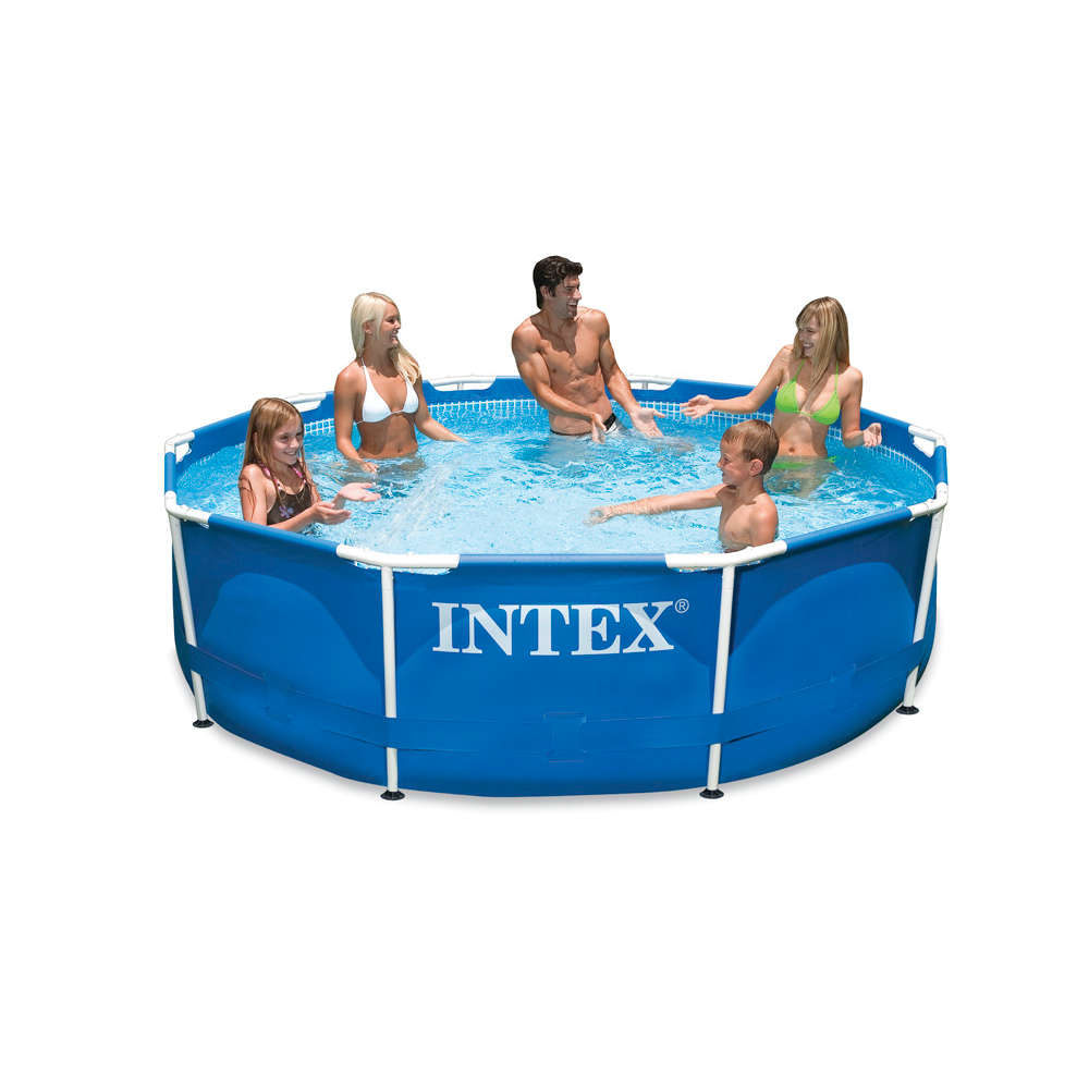 Intex Metall Frame Pool-Set mit GS-Pumpe