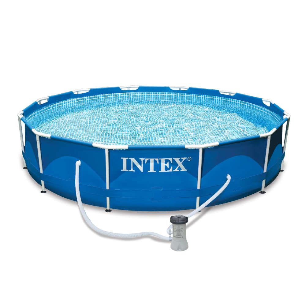 Intex Metall Frame Pool mit GS-Pumpe