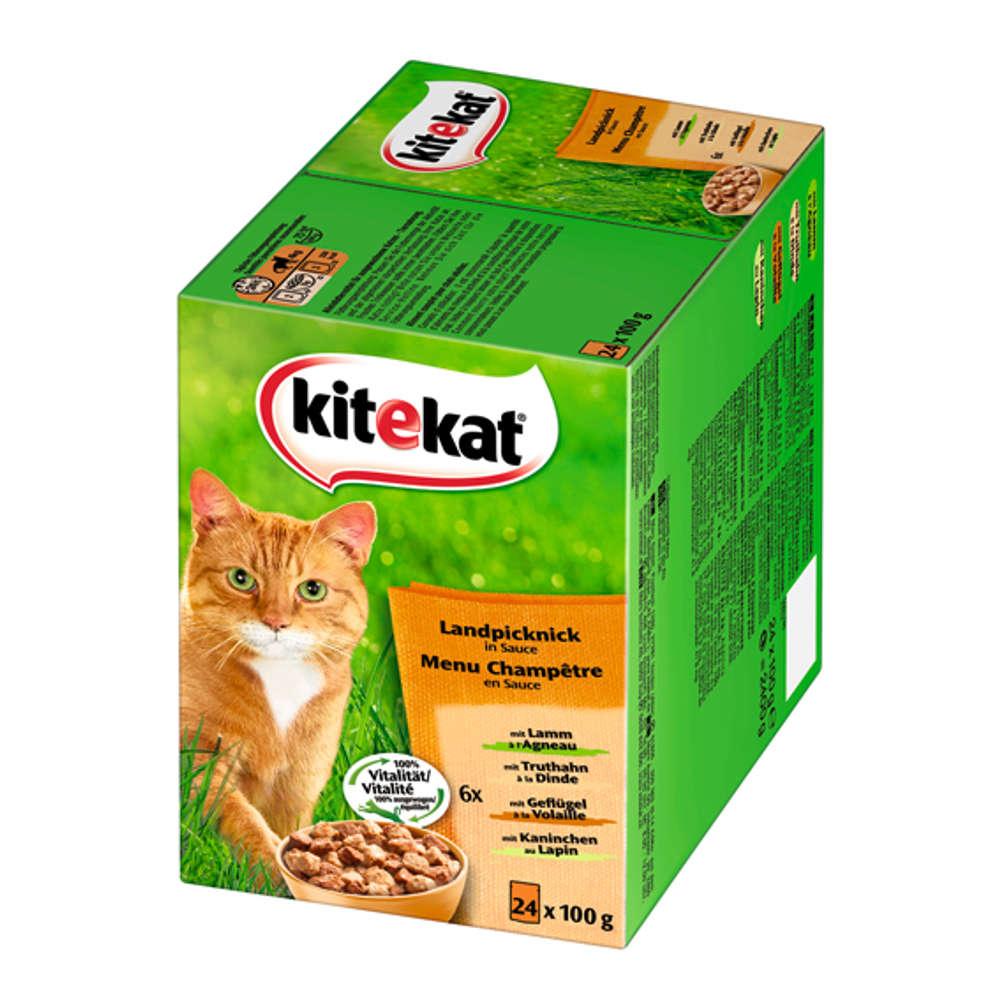 KITEKAT Multipack Landpicknick in Sauce - Katzen-Nassfutter