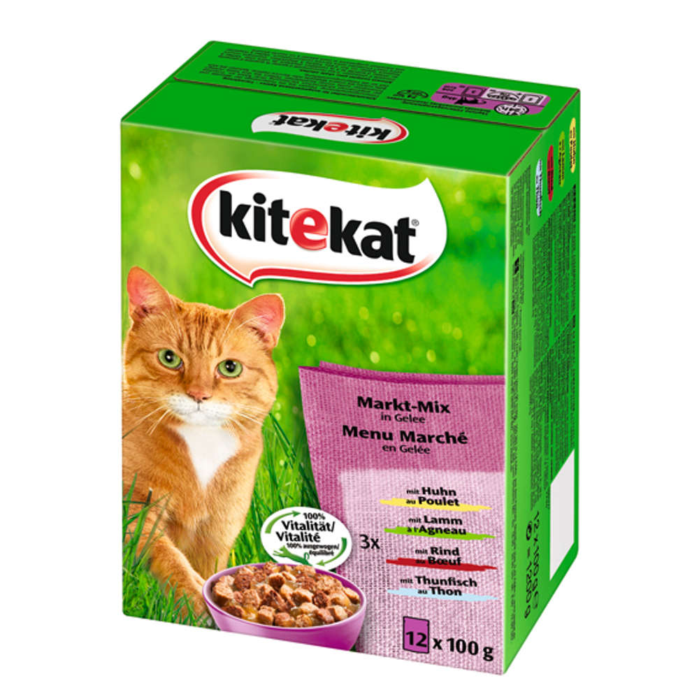 KITEKAT Multipack Markt Mix in Gelee - Katzen-Nassfutter
