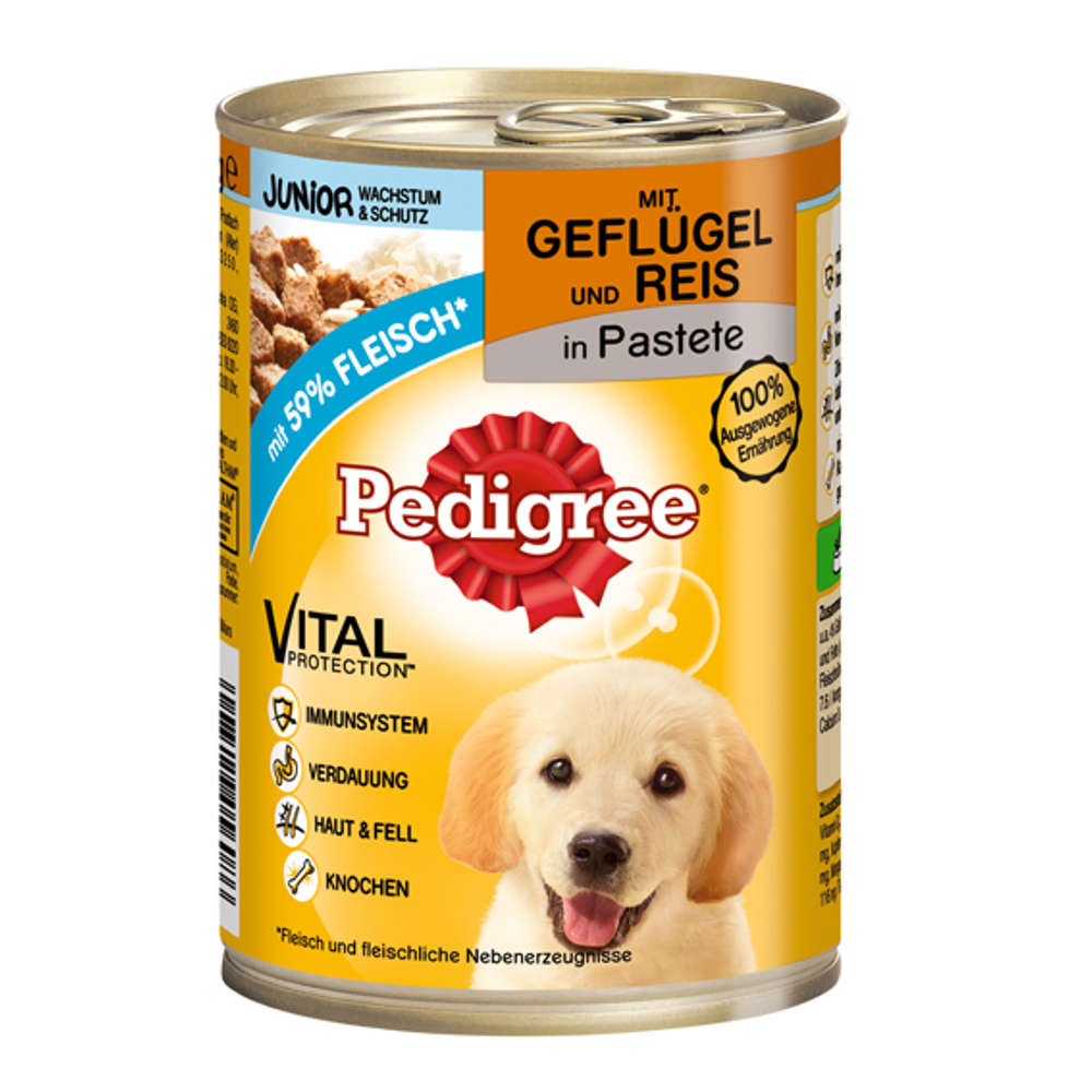 PEDIGREE Junior Gefluegel & Reis - Hunde-Nassfutter