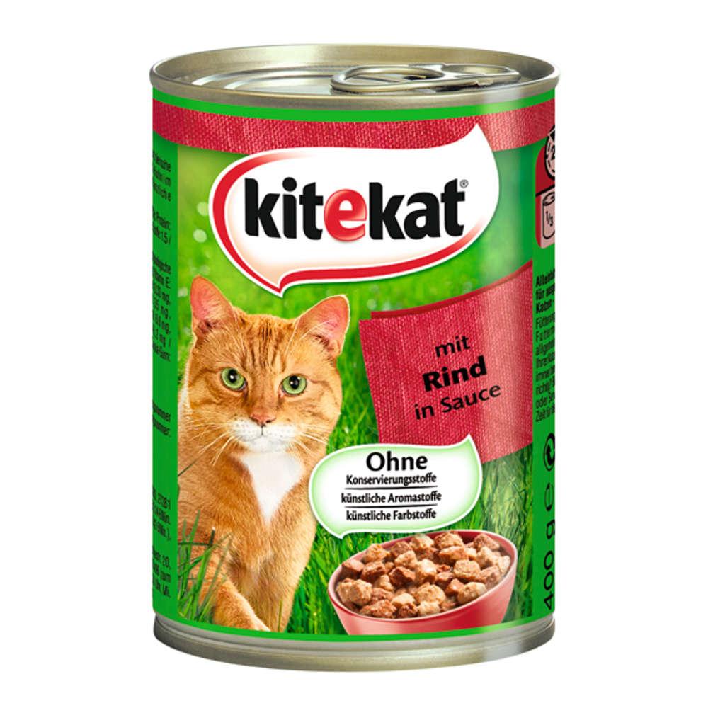 KITEKAT in Soße 400 g verschiedene Sorten  - Katzen-Nassfutter