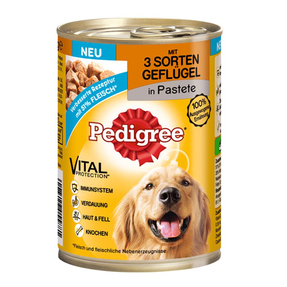 PEDIGREE Classic mit 3 Sorten Geflügel - Hunde-Nassfutter