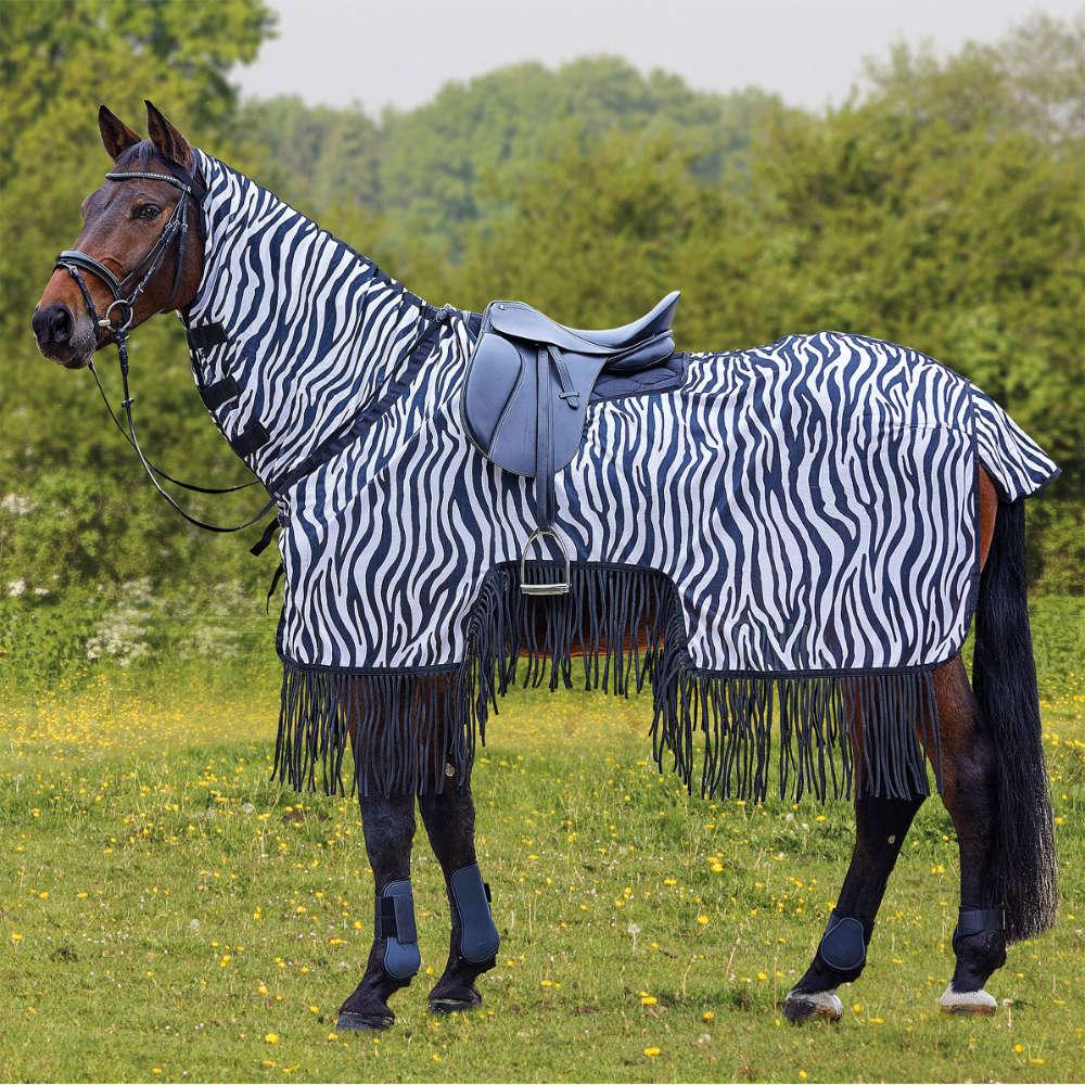 Kantrie Professional Fliegenausreitdecke Zebra mit Fransen
