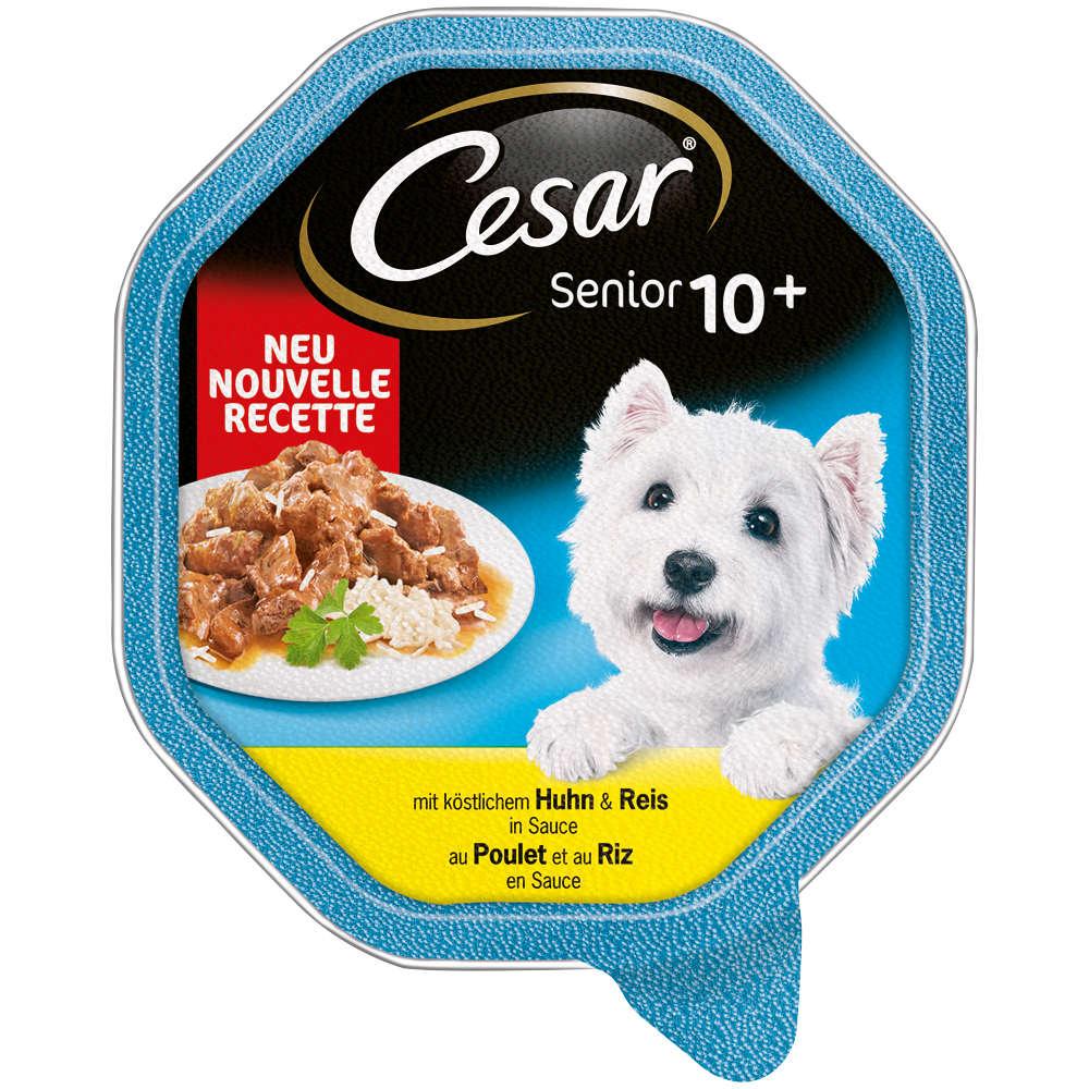 CESAR Senior mit Huhn und Reis in Sauce