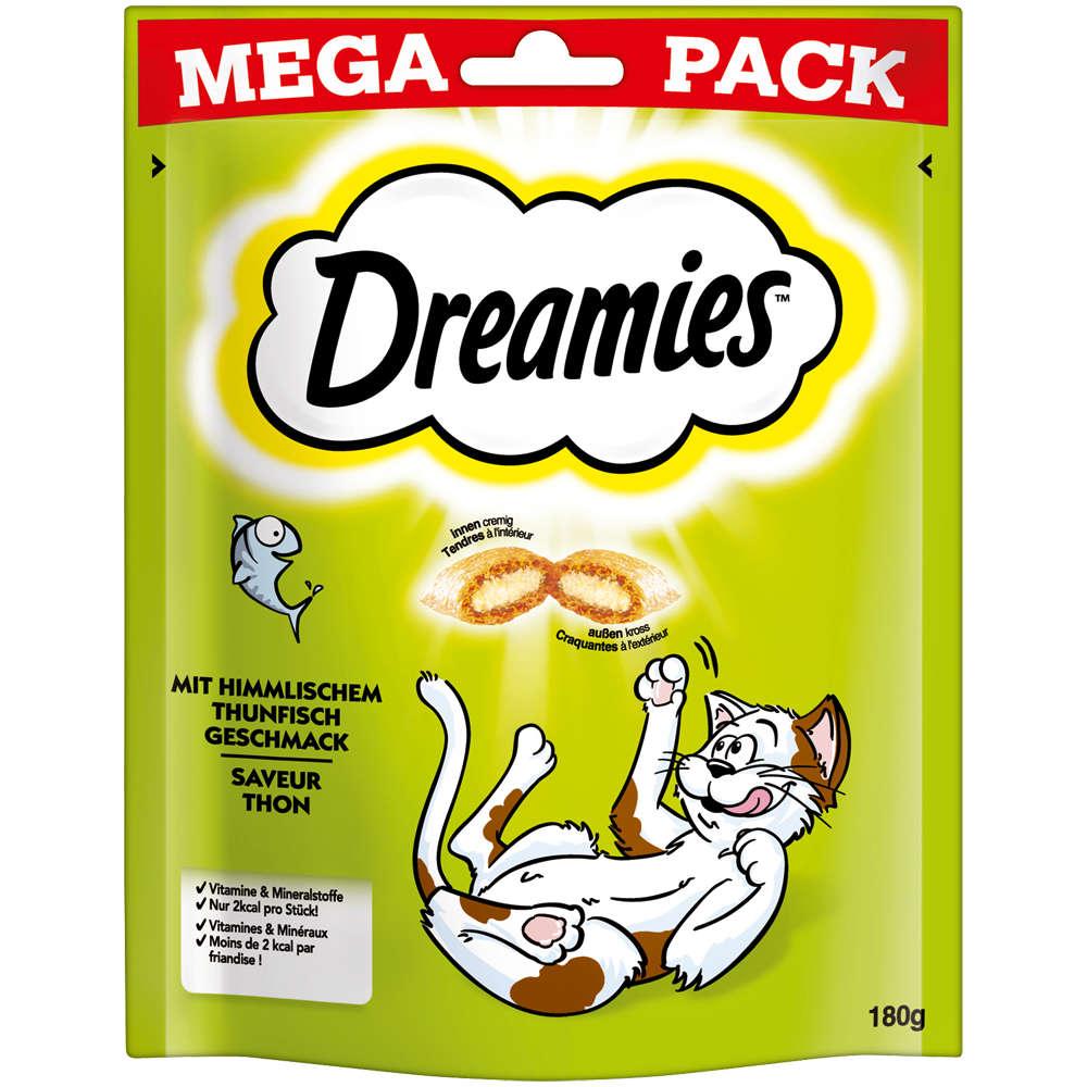 Dreamies Mega Pack mit himmlischem Thunfisch Geschmack 180g