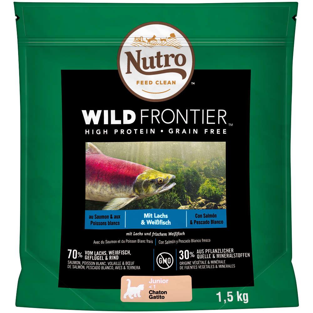 NUTRO Katze Wild Frontier 4 x 1,5 KG Junior Lachs