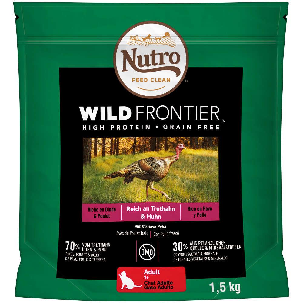 NUTRO Katze Wild Frontier 4 x 1,5 KG Adult Truthahn und Huhn