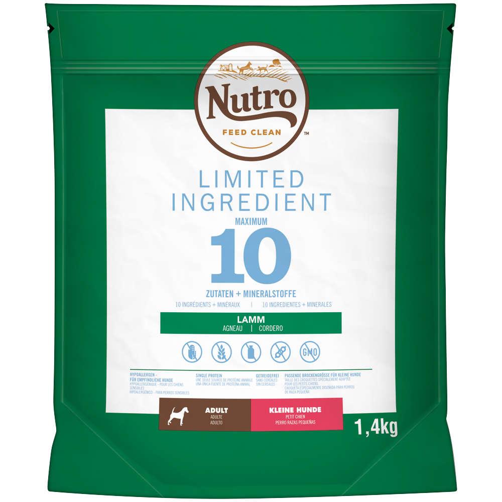 NUTRO Hund Limited Ingredient Diet 4 x 1,4kg Adult Small Dog Lamm