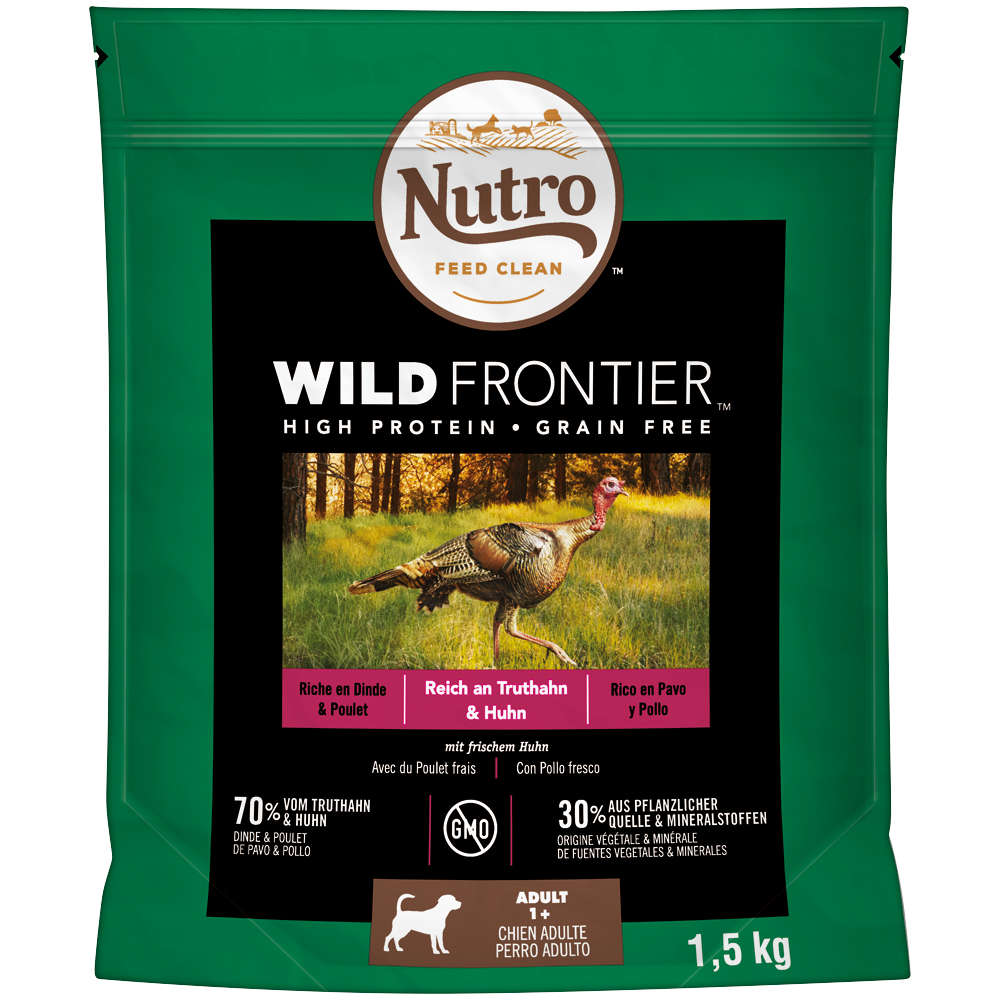 NUTRO Hundensnack Wild Frontier Junior mit Truthahn und Huhn 4 X 1,5KG