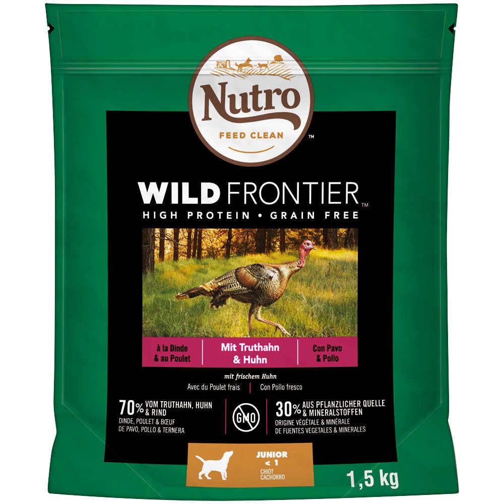 NUTRO Schale Hund Wild Frontier mit Truthahn und Huhn 4 X 1,5KG