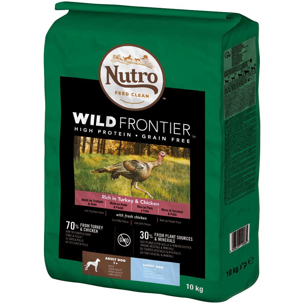 NUTRO Hund Wild Frontier Adult Grosse Hunde Truthahn und Huhn 10kg