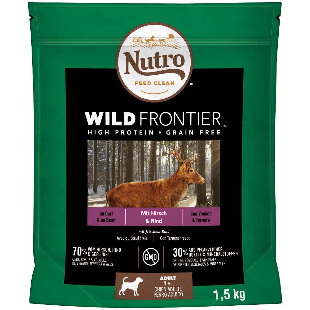 NUTRO Hund Wild Frontier  1,5 KG Wild und Rind