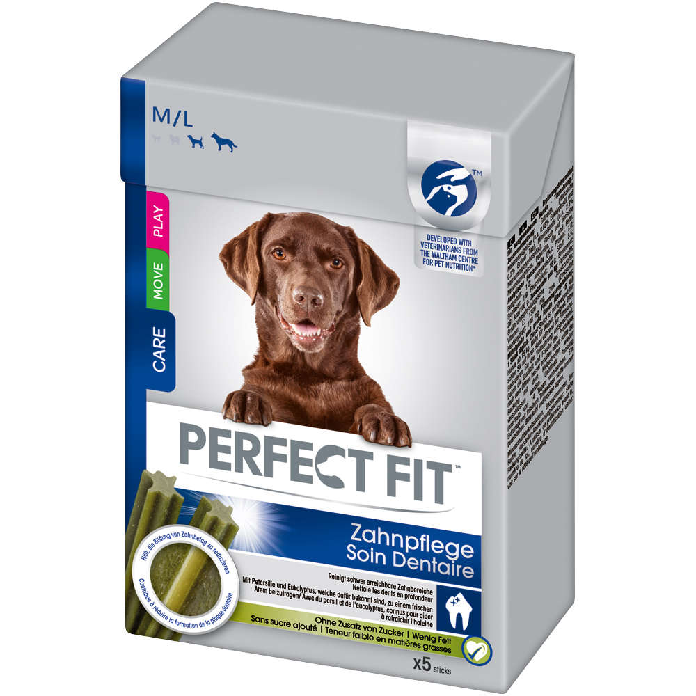 Perfect Fit Snacks Hund Zahnpflege M/L 135g