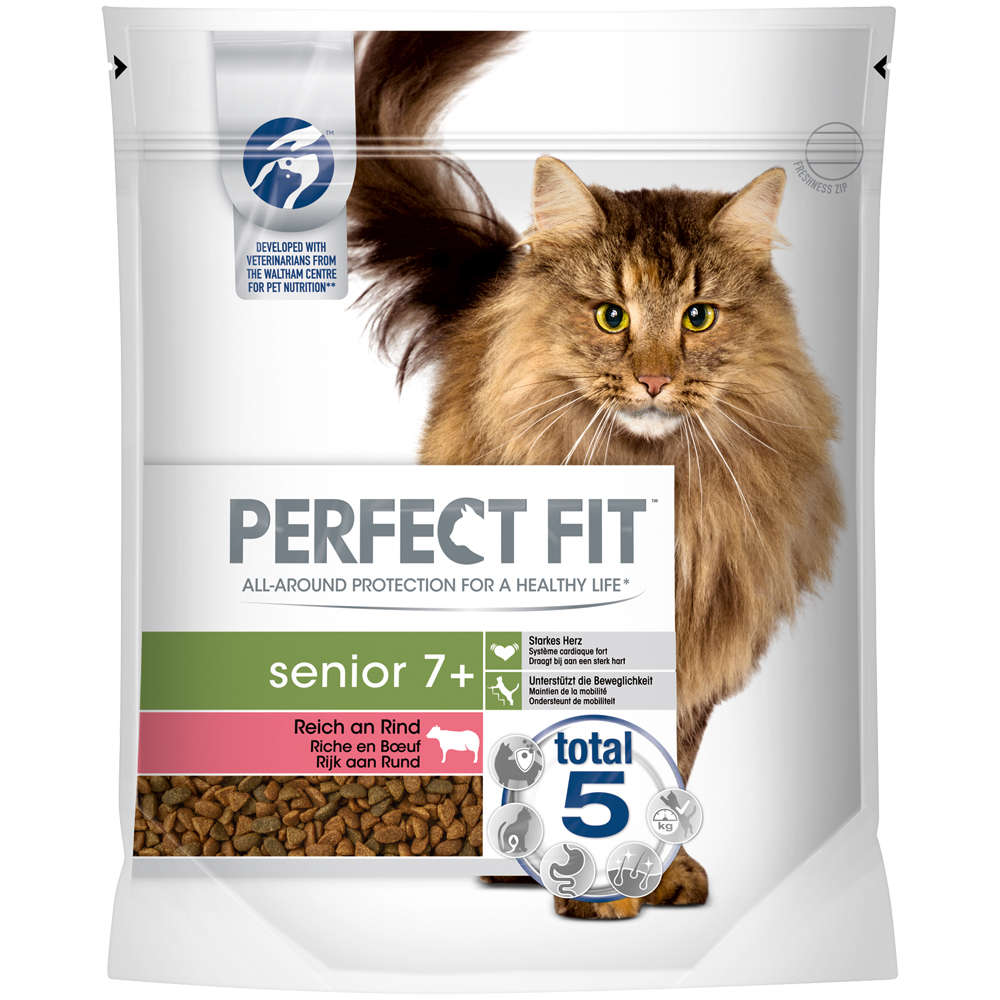 Perfect Fit Cat Dry  Senior 7+ reich an Rind