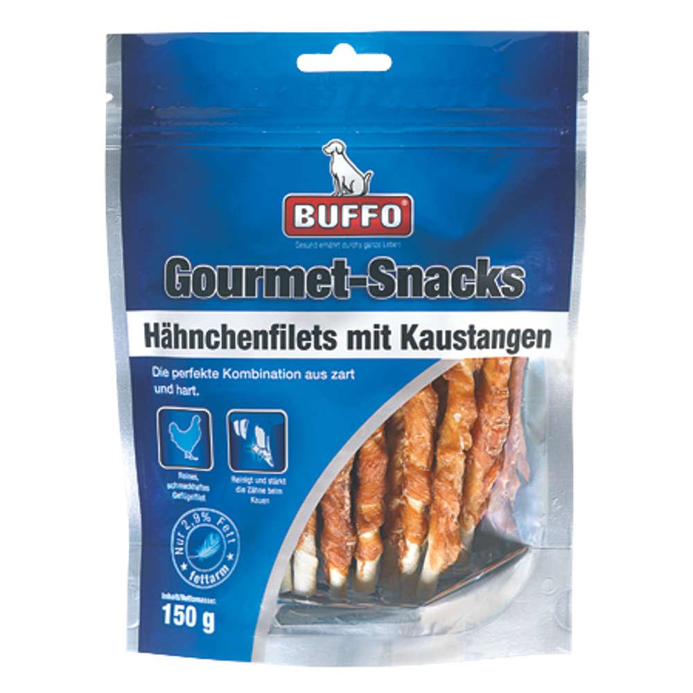 BUFFO Gourmet-Snacks Haehnchenfilet mit Kaustangen - Hundeleckerlis