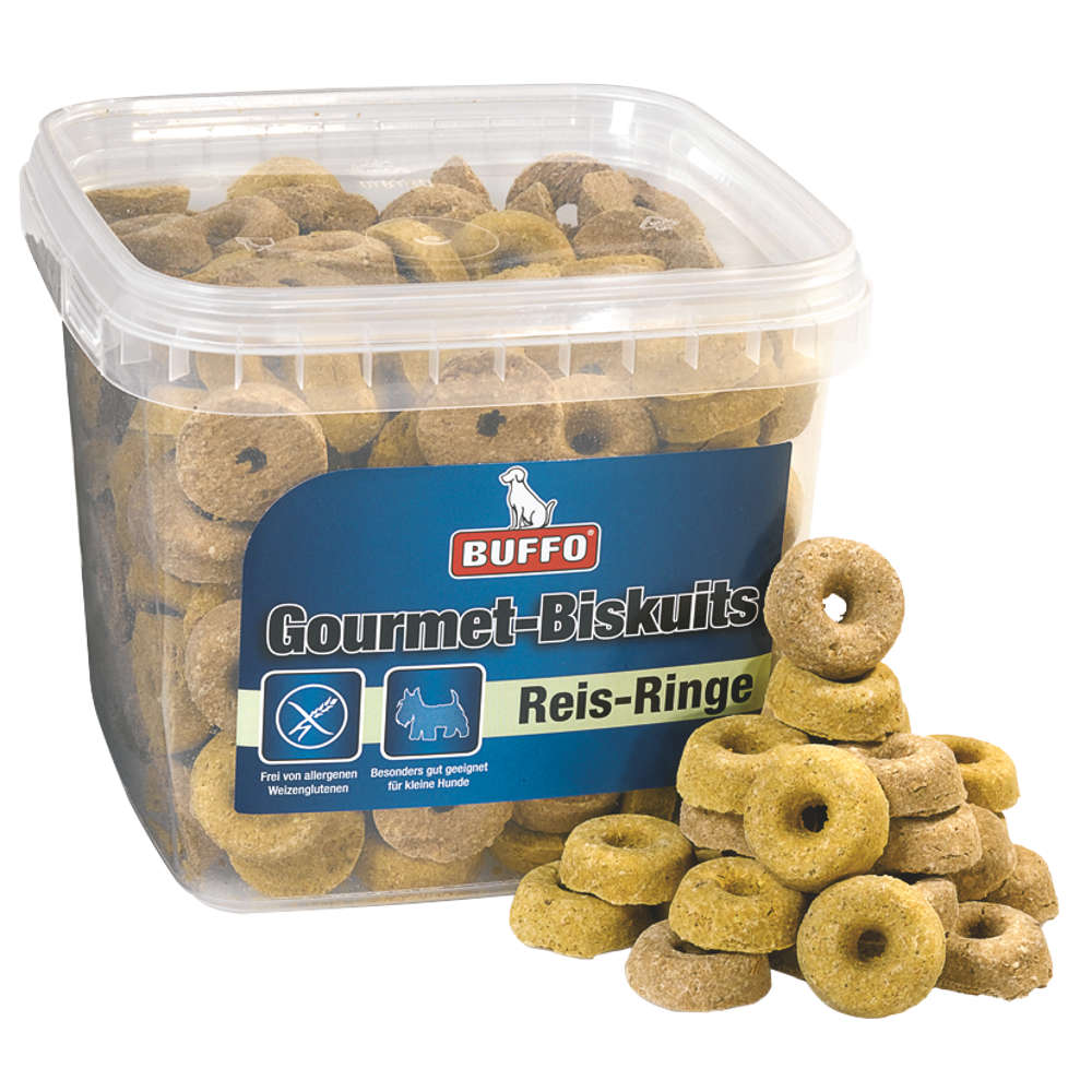 BUFFO Gourmet-Biskuits Reis-Ringe - Hundeleckerlis