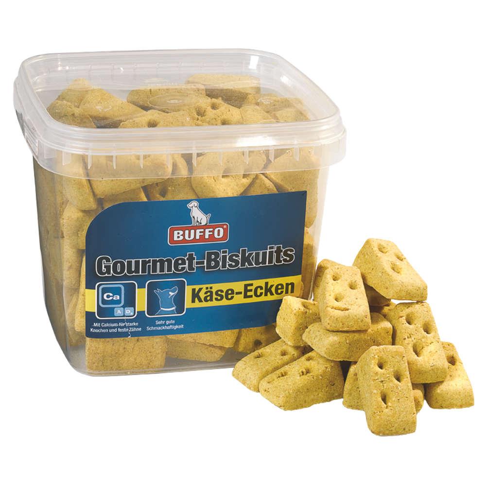 BUFFO Gourmet-Biskuits Kaese-Ecken - Hundeleckerlis