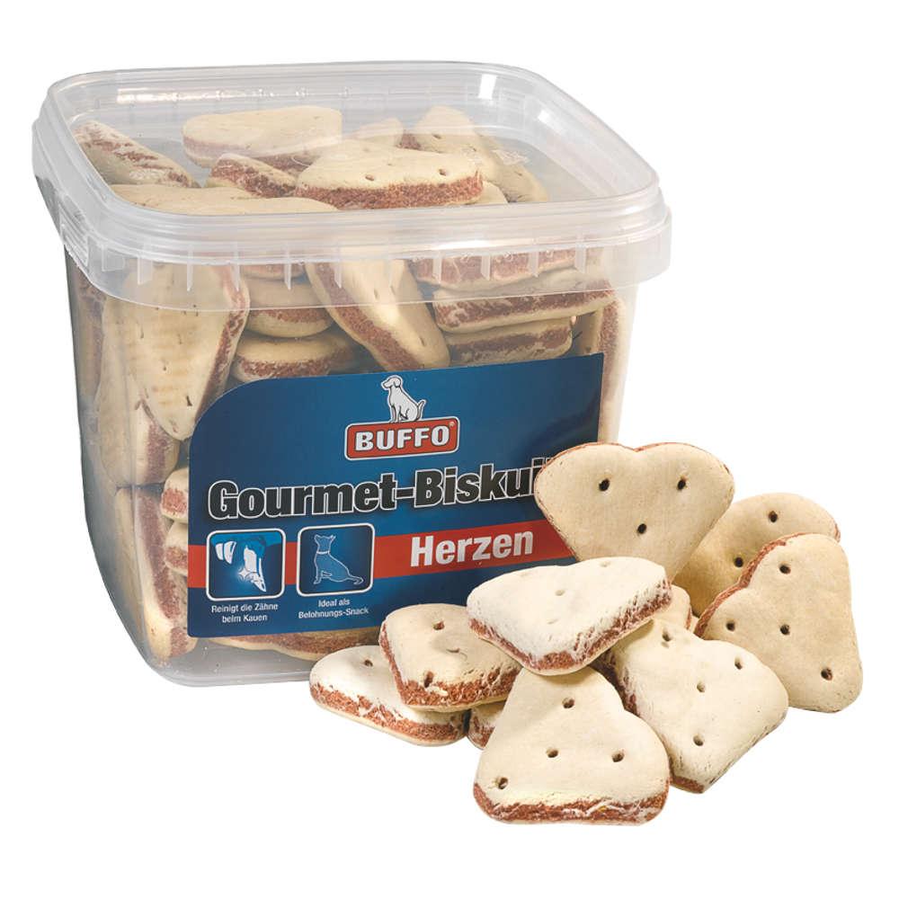 BUFFO Gourmet Biskuits Herzen - Hundeleckerlis