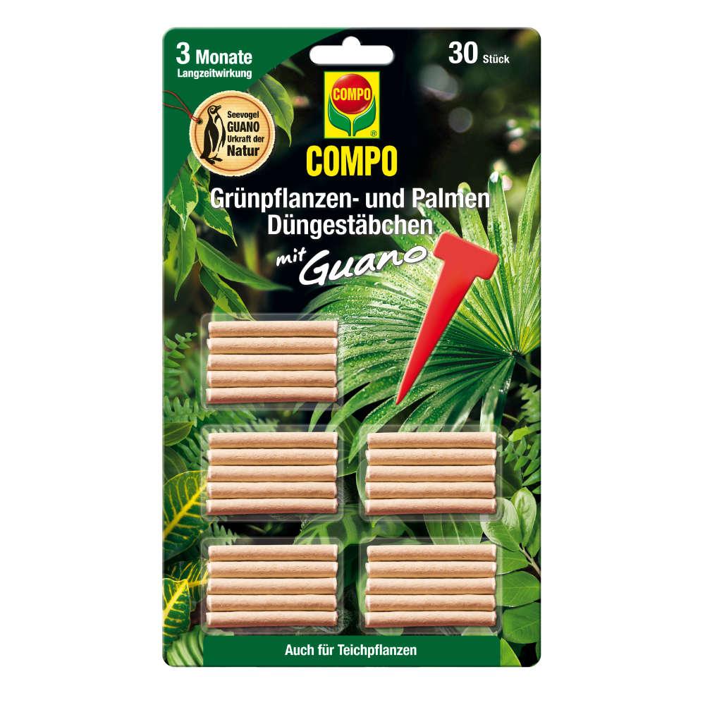 COMPO Duengestaebchen mit Guano fuer Gruenpflanzen- und Palmen - Universalduenger