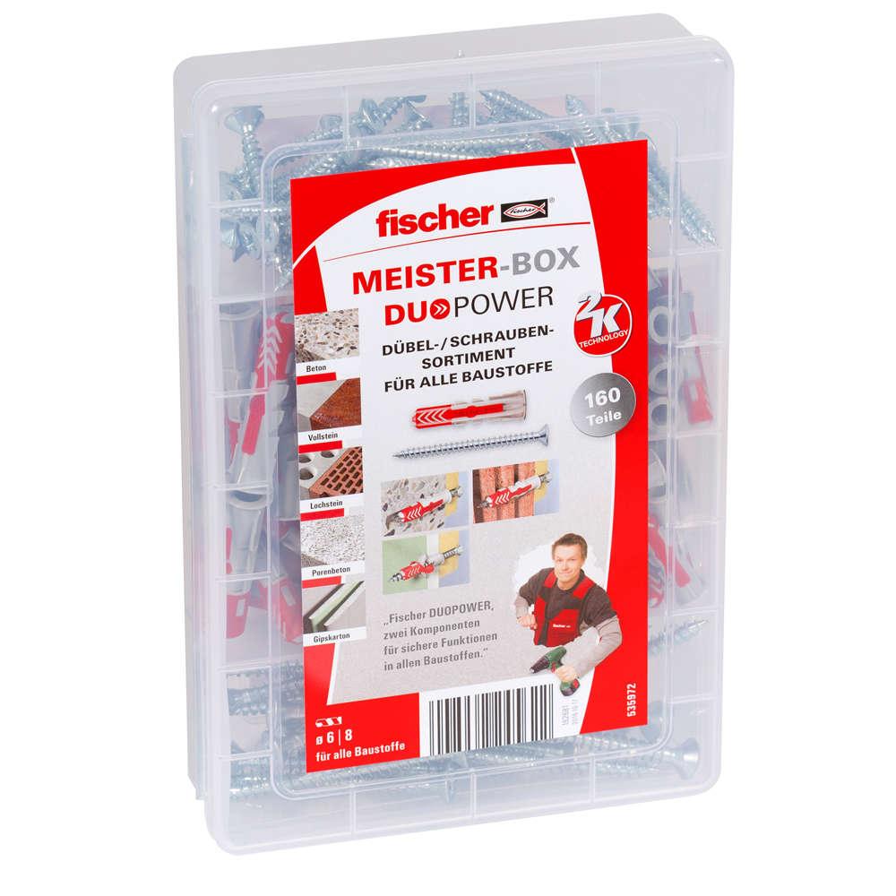 Fischer MEISTER-BOX DUOPOWER + Schrauben