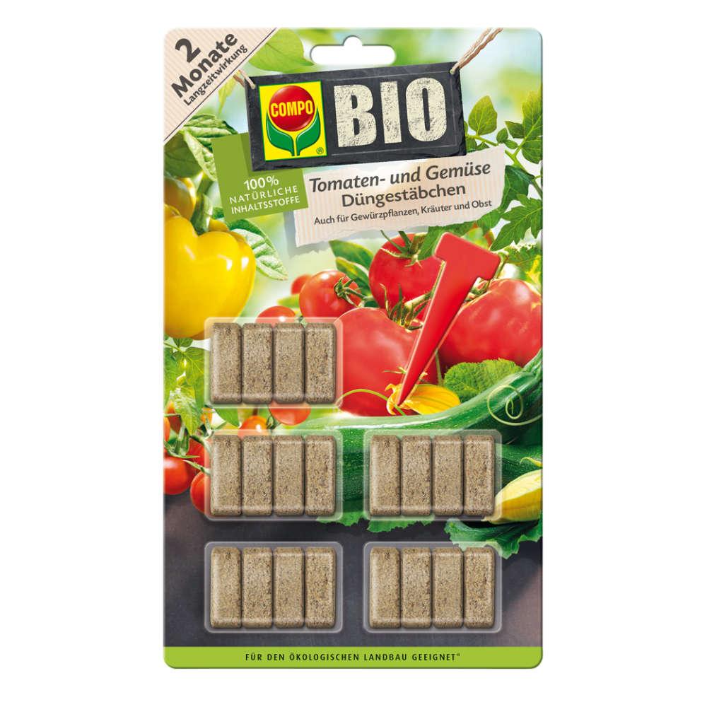 COMPO BIO Tomaten- und Gemüse Düngestäbchen - Gemüsedünger