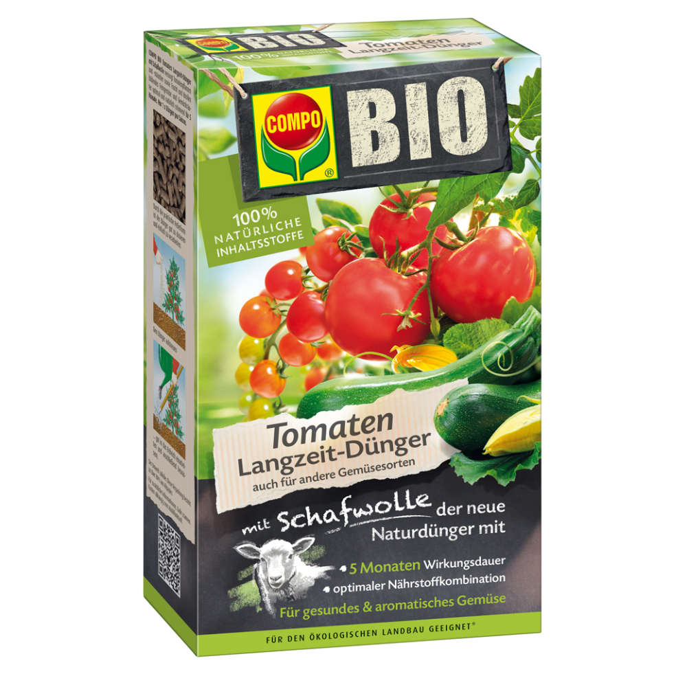 COMPO BIO Tomatenlangzeit-Dünger mit Schafwolle - Gemüsedünger