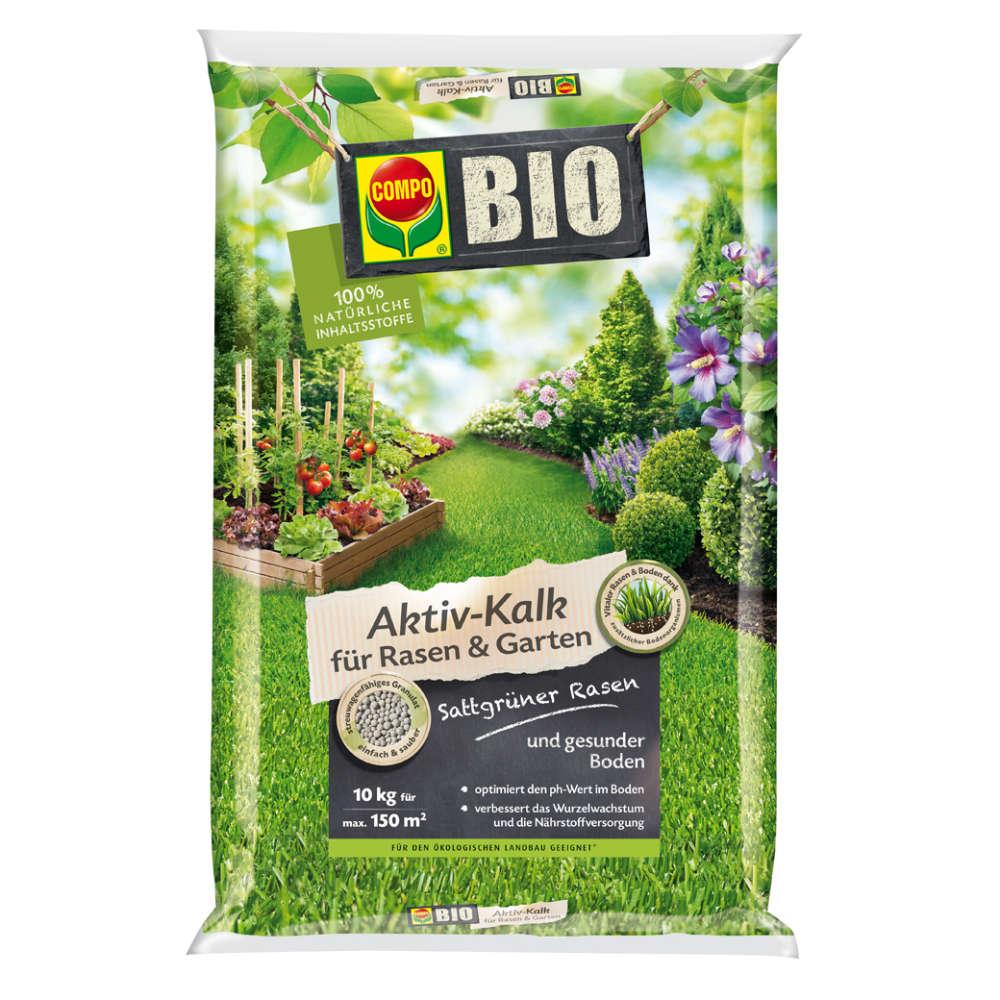 COMPO BIO Aktiv-Kalk für Rasen und Garten - Rasendünger