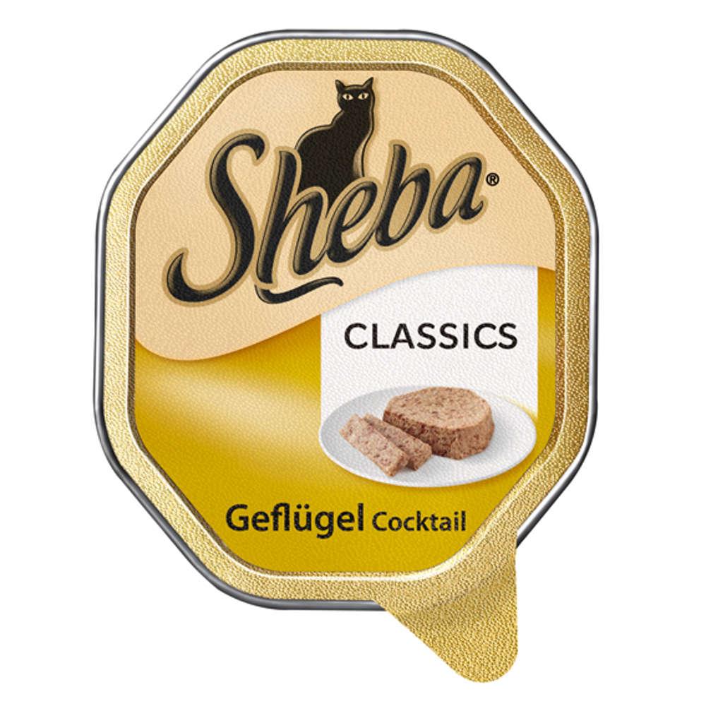 SHEBA Classics  Geflügel Cocktail - Katzen-Nassfutter