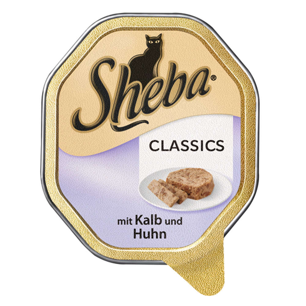SHEBA Classics  mit Kalb und Huhn - Katzen-Nassfutter