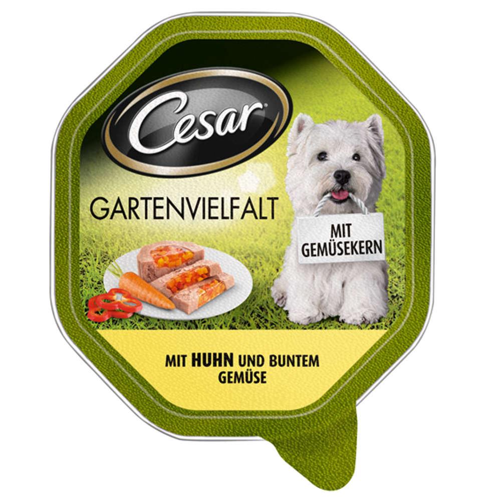 CESAR Gartenvielfalt  mit Huhn und buntem Gemuese
