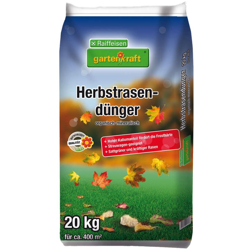 Grafik für Raiffeisen gartenkraft Herbstrasendünger in raiffeisenmarkt.de